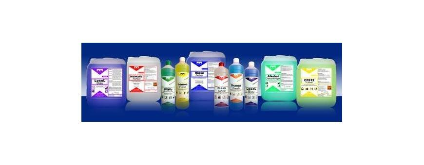 Neutral, alkaline and  acidic detergents and disinfectants