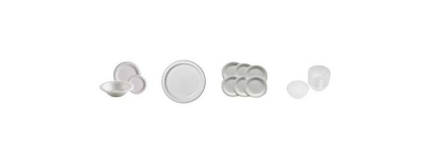 Disposable plastic plates and bowls